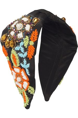 Bella Moda Women Hair Accessories - Women Black & White Embellished Hairband