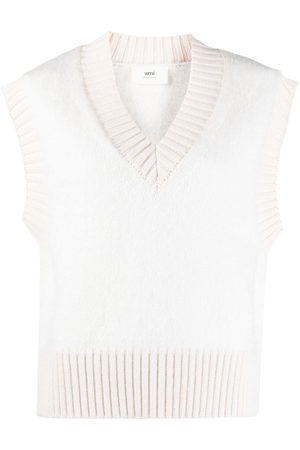 Ami Sleeveless knitted top