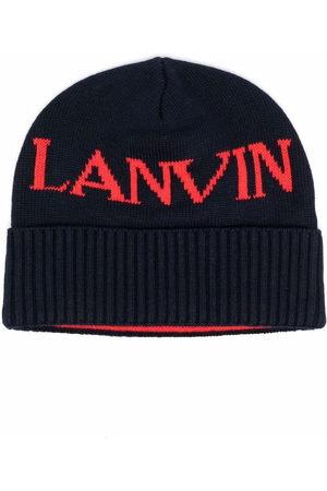 Lanvin Boys Beanies - Logo-print beanie