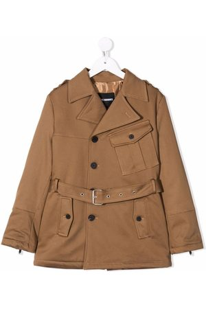 LES HOMMES KIDS Boys Trench Coats - Belted trench coat