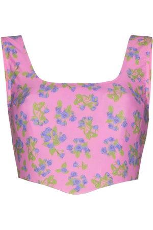 Natasha Zinko Floral print corset top