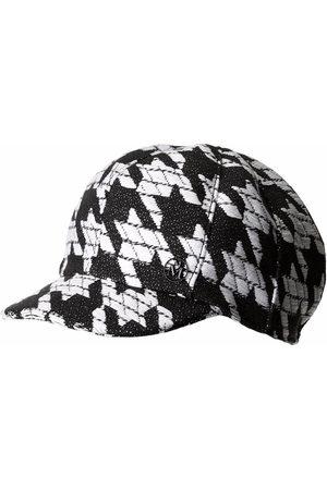 Maison Michel Kris houndstooth-pattern cap