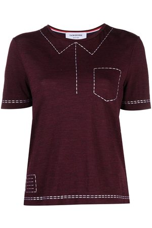 Thom Browne Women Short Sleeve - Trompe-l'œil short-sleeve T-shirt