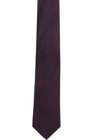 Alvaro Castagnino Men Black & Purple Printed Broad Tie