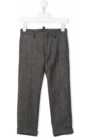 Dsquared2 Boys Formal Trousers - Chevron-knit wool trousers