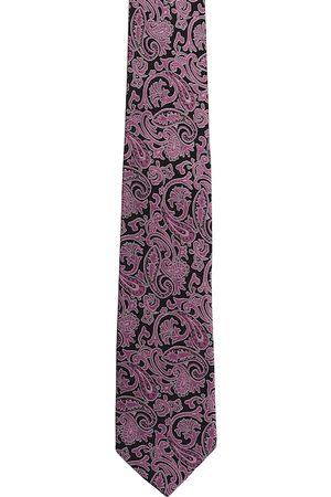 Alvaro Castagnino Men Purple & Pink Woven Design Broad Tie