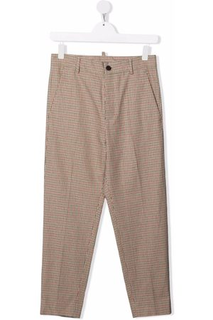 Dsquared2 TEEN check-print tailored trousers