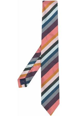 Paul Smith Men Bow Ties - Diagonal-stripe silk tie