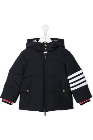 Thom Browne Kids Ripstop down-filled hooded 4-Bar parka