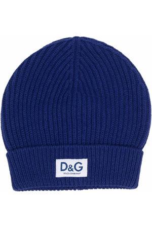 Dolce & Gabbana Logo-patch wool beanie
