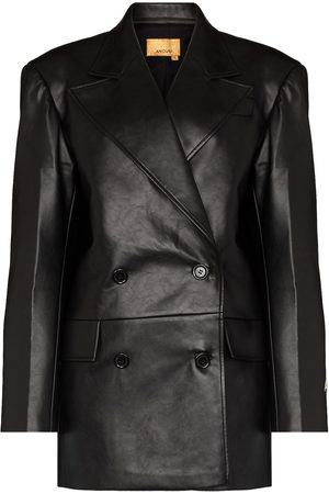 ANOUKI Faux-leather double-breasted blazer
