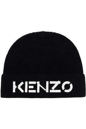 Kenzo Men Beanies - Embroidered logo ribbed beanie