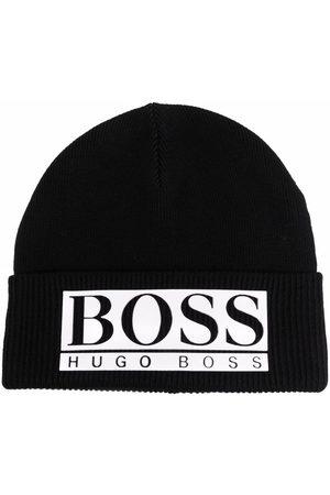 BOSS Kidswear Logo-appliqué beanie