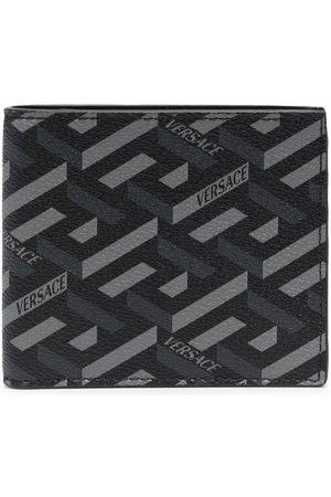 VERSACE Greca-print bi-fold wallet