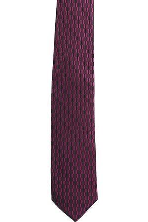Alvaro Castagnino Men Neckties - Men Purple & Black Woven Design Broad Tie