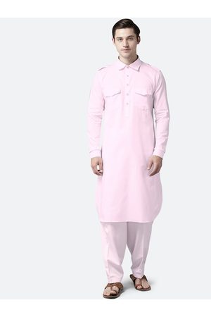 See Designs Men Pink Regular Pure Cotton Kurta with Salwar