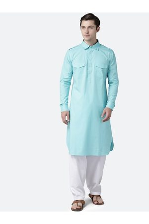 See Designs Men Kurtas - Men Sea Green Regular Pure Cotton Kurta with Salwar