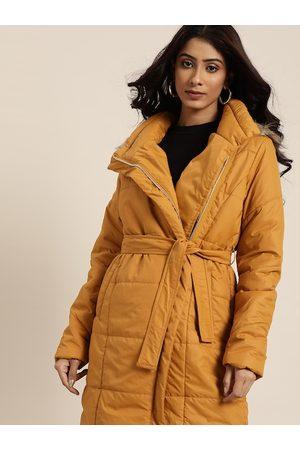 all about you Women Mustard Longline Parka Jacket