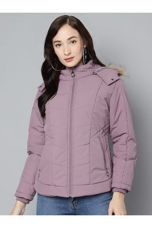 Foreign Culture By Fort Collins Women Lavender Hooded Parka Jacket