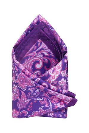 Tossido Men Purple & Pink Printed Pocket Square