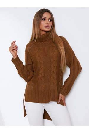 YOINS Turtleneck Cable Knit Long Sleeves Sweater