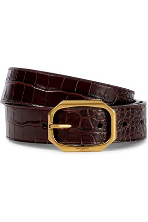Saint Laurent Women Belts - Mock-croc leather belt
