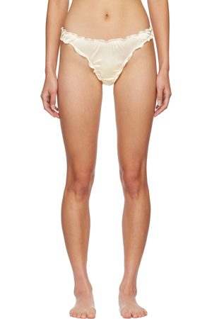Softandwet SSENSE Exclusive Off- Frilled Thong