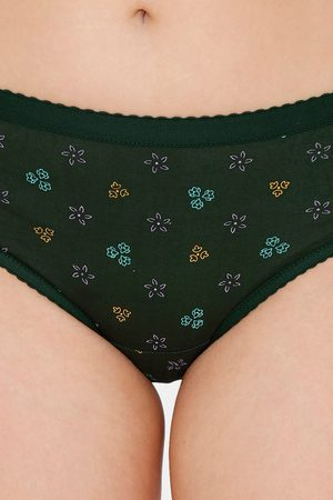 Extreme Fashions Pack of 2 Printed Outer Elastic Hipster Green Fuchsia