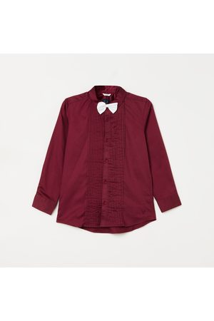 Allen Solly Boys Solid Casual Shirt with Bow Tie
