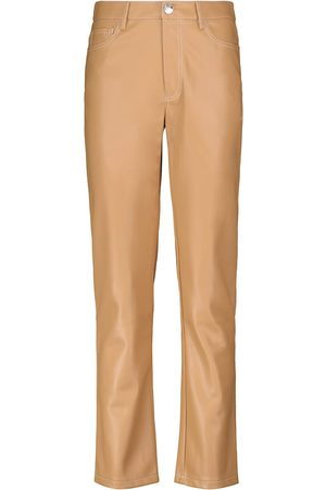 Staud Elliot faux leather straight pants