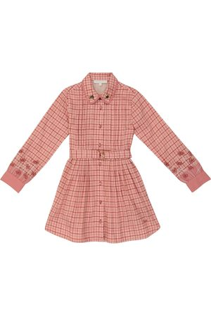 Chloé Checked long-sleeved cotton dress