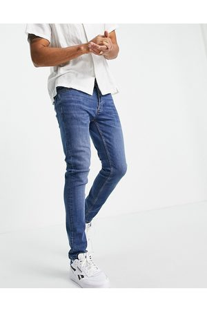Topman Stretch skinny jeans in mid wash