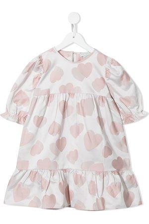 Stella McCartney Girls Casual Dresses - Hearts jacquard tiered dress