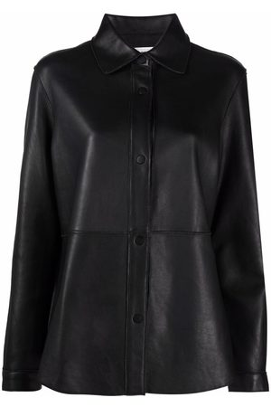 P.a.r.o.s.h. Women Long Sleeve - Button-down leather shirt