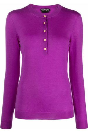 Tom Ford Women Tops - Cashmere-silk button-up top