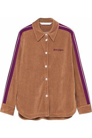 Palm Angels Corduroy side-stripe shirt