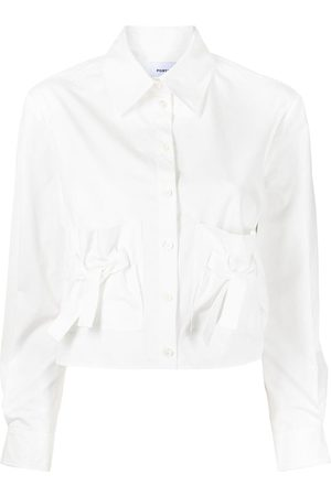 Ports V Bow detail shirt