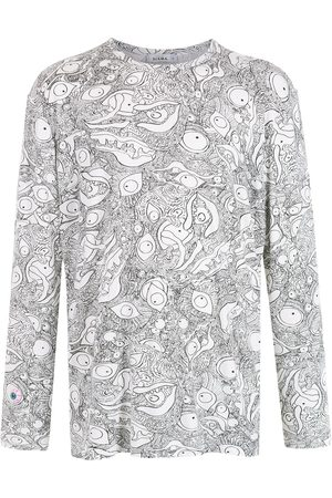 AMIR SLAMA Long Sleeve - Abstract-print long-sleeved T-Shirt