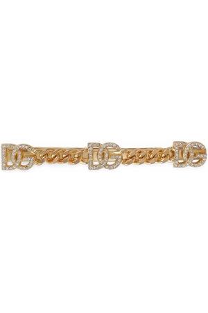 Dolce & Gabbana Women Hair Accessories - Rhinestone DG-logo hair clip