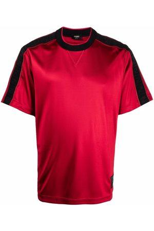 Fendi Men Short Sleeve - Logo-trim T-shirt