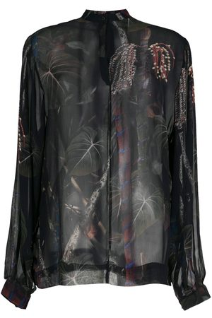 OSKLEN Women Long Sleeve - Cipó sheer shirt