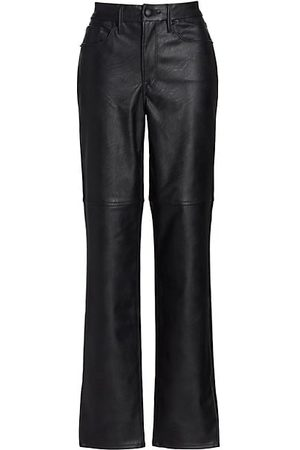 GOOD AMERICAN Boys Leather Trousers - Good Boy Faux Leather Pants