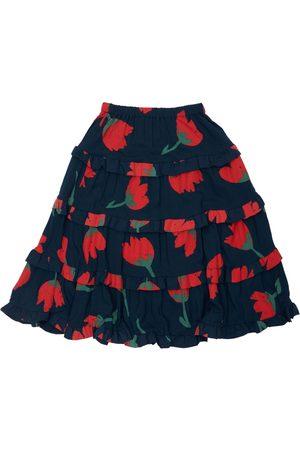Bobo Choses Flower Print Ruffled Ecovero Skirt