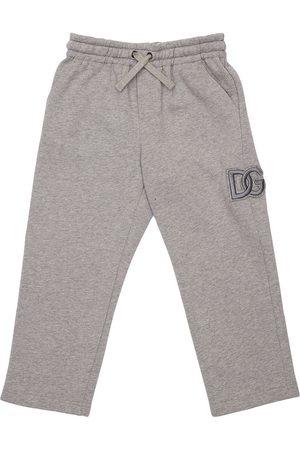Dolce & Gabbana Logo Patch Cotton Sweatpants
