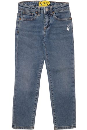 OFF-WHITE KIDS Stretch Cotton Jeans
