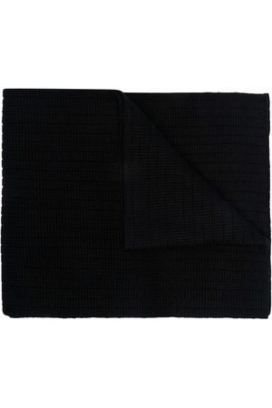 Moncler Men Scarves - Logo-patch knitted scarf