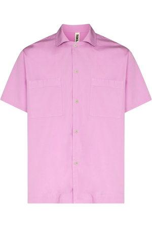Tekla Men Short sleeves - Short-sleeve organic cotton pajama shirt