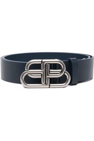 Balenciaga Men Belts - Logo buckle leather belt