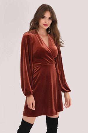 Closet Puff Sleeve A-Line Dress