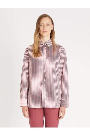 Max Mara Weekend Max Mara PANCA Bordeaux Striped Shirt 51160519 004